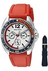 Nautica Men's NAD11523G Nautica Sport Ring Gift Set Analog Display Quartz Red Watch