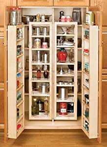 "Rev-A-Shelf 4WDP18-57 57"" Pantry Door Unit (with Hardware) Single - Wood - Maple"