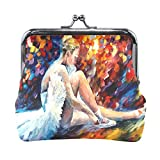 Ethel Ernest Colorful Ballet Dancer Painting Coin Wallets Mini Purse for Womens Girls