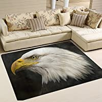 American Bald Eagle Playmat Floor Mat For Dining Room Living Room Bedroom, 7x5 and 53x4