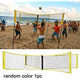 Gcroet 4-Sided Volleyball Net Set Outdoor Backyard Volleyball Net Outdoor Volleyball Net System Portable Beach Volleyball Net Random Color
