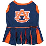 Pets First NCAA AUBURN TIGERS Dog Cheerleader Outfit, Small