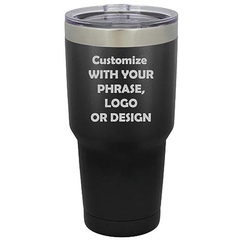 amazon com personalized black 30 oz tumbler custom logo monogram