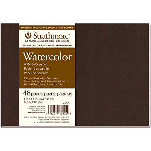 Strathmore (483-5 400 Series Softcover Watercolor Art Journal, 8'x5.5', 24 Sheets