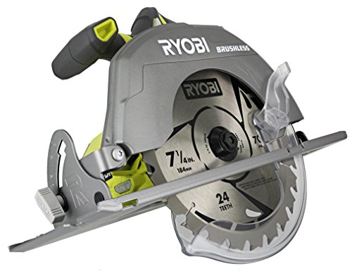 Ryobi P508 One 18V Lithium Ion Cordless Brushless 7 1 4 3,800 RPM Circular Saw w Included Blade Battery Not Included