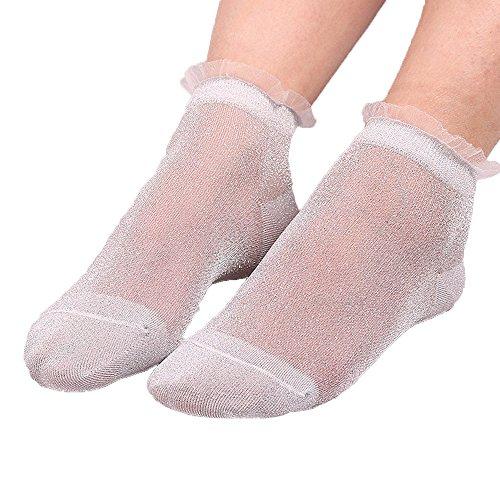 Socks, FORUU Sales 2019 Winter Warm Under 10 Best Gift Summer Women Ladies Sheer Silky Glitter Transparent Short Stockings Ankle ()