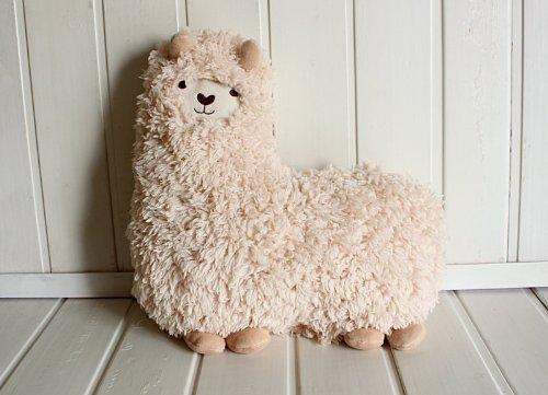 Bolster,toy,aunt Merry Mokomoko Llama Alpaca Hug Pillow Cushion Doll (Alpaca Pillows)