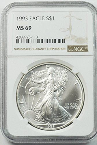 1993 P Silver Eagle Fine Silver American Eagle $1 MS-69 NGC MS