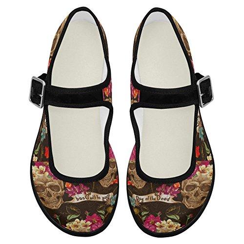 InterestPrint Womens Comfort Mary Jane Flats Casual Walking Shoes Multi 6 uPrWhIzh