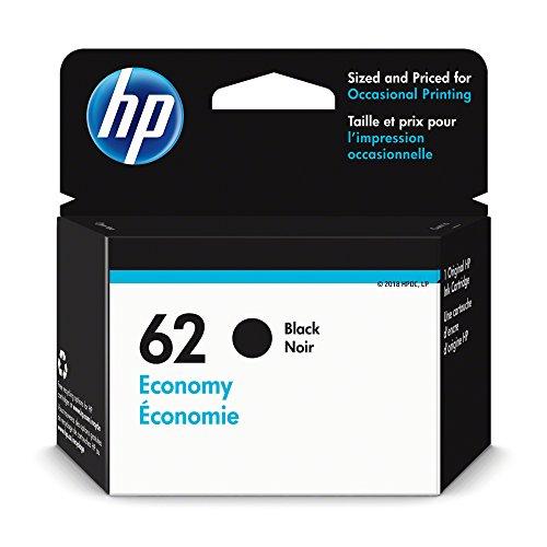 HP 62 Ink Cartridge Black Economy (1VV43AN) for HP ENVY 5540 5541 5542 5543 5544 5545 5547 5548 5549 5640 5642 5643 5644 5660 5661 5663 5664 5665 7640 7643 7644 7645 HP Officejet 200 250 258 5740… - 200 Black Ink Cartridge