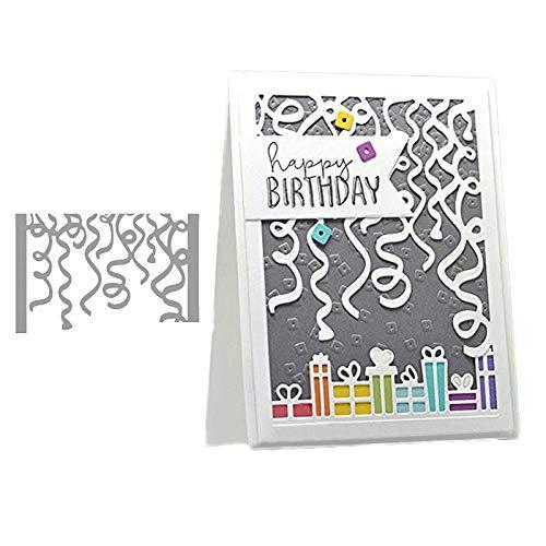 (Cutting Dies, Ribbon Frame Die Cuts for Card Making DIY Scrapbooking Paper Album Embossing Craft Decoration Metal Carbon Steel )