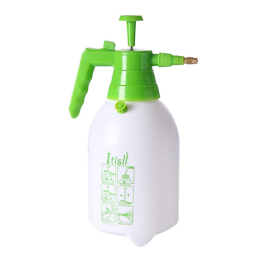 ITISLL Manual Garden Sprayer Hand Lawn Pressure Pump Sprayer Safety Valve Adjustable Nozzle Half Gal