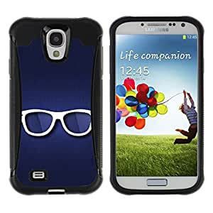 Be-Star único patrón Impacto Shock - Absorción y Anti-Arañazos Funda Carcasa Case Bumper Para SAMSUNG Galaxy S4 IV / i9500 / i9515 / i9505G / SGH-i337 ( Glasses )