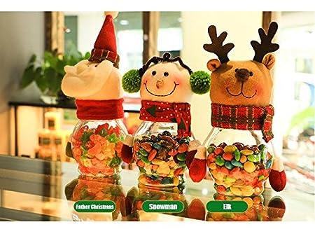 calistouk 3pcs Cute Christmas muñeca imagen diseño Candy bombones pequeña caja de regalo Navidad botella: Amazon.es: Hogar