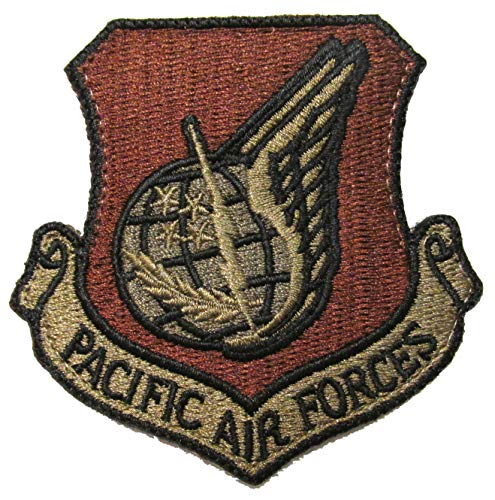 Air Force Pacific Air - U.S. Air Force Pacific Air Forces (PACAF) OCP Patch with Hook Fastener - Spice Brown