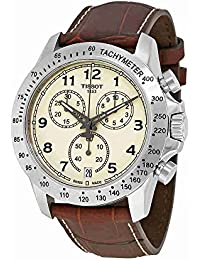 V8 T106.417.16.262.00 Ivory / Brown Leather Analog Quartz Men's Watch
