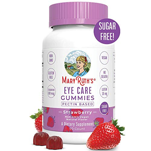 Eye Vitamins - Eye Care Gummy Chewable Supplements - Zeaxanthin, Lutein Multivitamins - Sugar Free Gummies with All Natural Ingredients - Vegan, Paleo Friendly, Celiac Friendly - 45 Day Supply (90 C