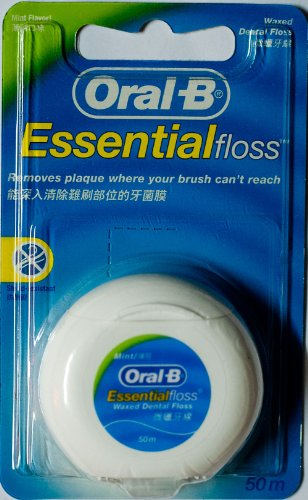 Oral B Essential Waxed Mint Floss, 50 M Pack Of 2 Imported