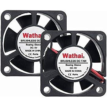 2Packs 30x30x10mm 30mm 5V Brushless DC Cooling Exhaust Fan