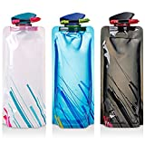 TRADERPLUS 3 Pack 700ml Collapsible Water Bottle BPA Free...