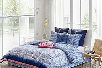 Amazoncom Echo Design Shibori King Size Bed Comforter Set Blue