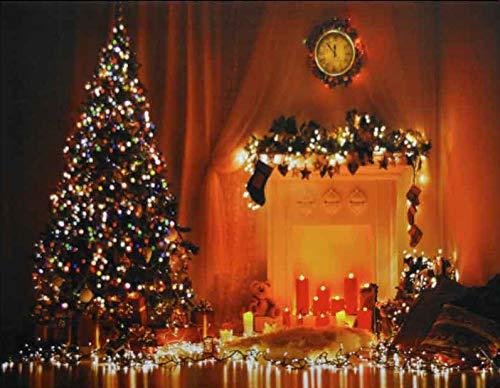 3d7b22307c9c3 Home   Kitchen Life Is Good Large Christmas Tree   Fireplace Light up Fibre  Optic LED ...