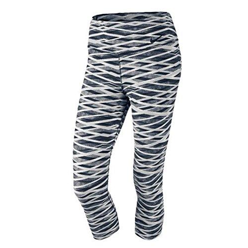 Legendary Dri-fit Capri Leggings Grey/ Black/ White Large