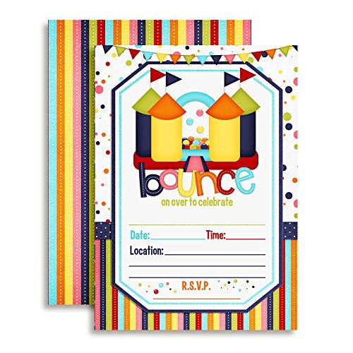Bounce House Birthday Party Invitations, 20 5