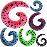 1/2 Inch gauges spiral ear plugs tunnels flare Claw Taper expander stretcher fit MoDTanOiz 12mm