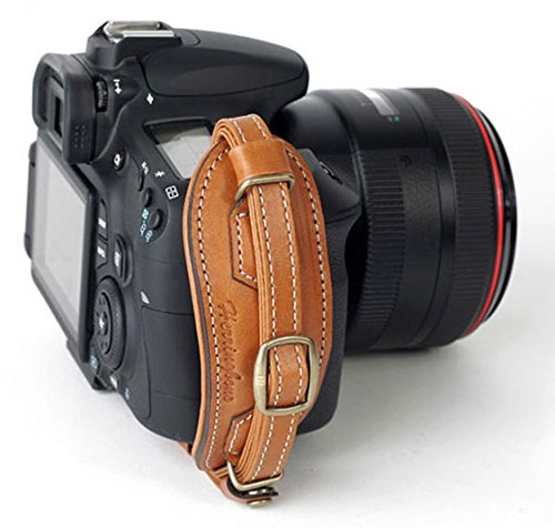 Herringbone Heritage Leather Camera Hand Grip Type 1 Hand Strap for DSLR with Multi Plate, Camel Brown ()