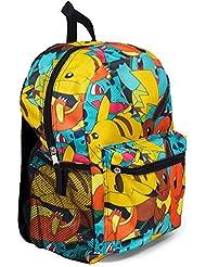 Pokemon Large 16 All Over Print Front Pocket Backpack - Kids