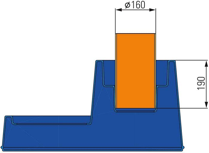 Regenwassertank 3P Beruhigter Zulauf Nennweite DN 150 verhindert EIN Aufwirbeln der Sedimentschicht am Boden der der Zisterne BZW Das Wasser in der Zisterne bleibt frisch.