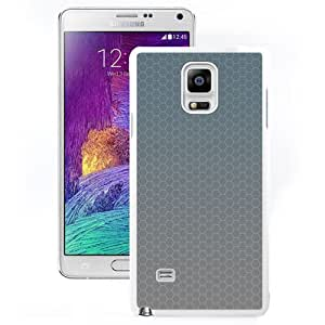 DIY and Fashionable Cell Phone Case Design with Gray Honey Combs Pattern Galaxy Note 4 Wallpaper in White