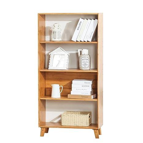 Amazon.com: Bookcases Bamboo Bookshelf Locker Floor Simple ...