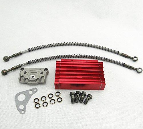 Engine Oil Cooler Cooling Radiator Hose 125cc for Pit Dirt Bike Monkey Bike New (Best Oil For Pit Bike Engine)