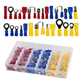 720Pcs Electrical Wire Connectors,Crimp Ring Terminals, Spade Connector Set,Mixed Assorted Lug Kit Insulated Spade Wire Connector Crimp Terminal Spade Ring Set Eagles(TM)
