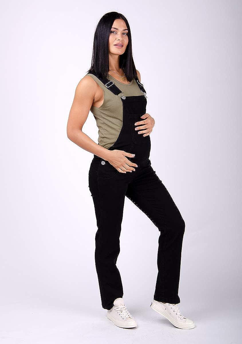 Wash Clothing Company Maternity Dungarees Black Denim Pregnancy Overalls Maternity Fashion Ivy