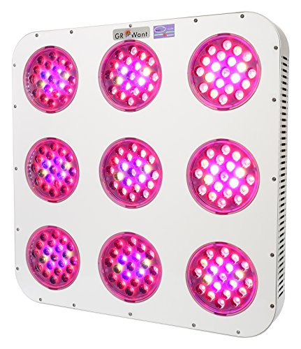 GROWant G2-Lens Series 1350Watt LED Grow Light Full Spectrum Enhanced for Indoor Plants Veg and Flower