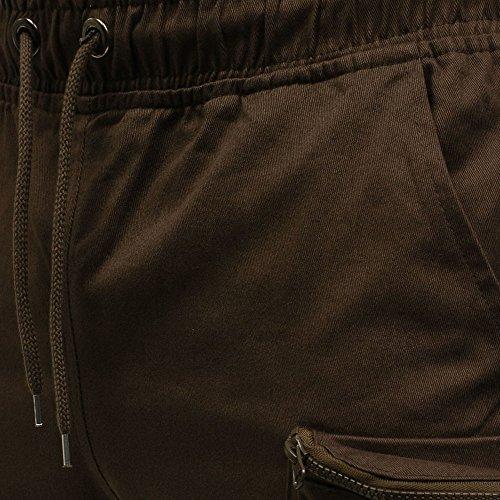 Pantalons Pour Élastique Rayé Pieds Hommes Petits Avec Décontractés Slim De Café Amuster Survêtement Séchage À dx8EwdF