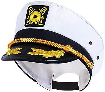 1944dc595 Kangaroo's Yacht Captain Hat, Cotton, Adjustable