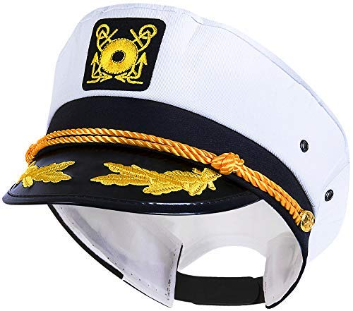 Kangaroo's Yacht Captain Hat, Cotton, Adjustable -