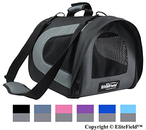 (EliteField Deluxe Soft Pet Carrier (3 Year Warranty, Airline Approved), Multiple Sizes and Colors Available (18