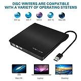 External CD Drive, USB 3.0 External DVD Drive for Laptop/Mac/Macbook, Portable Slim USB DVD Drive External DVD/CD Burner DVD/CD Player - High Speed Data Transfer for Mac/Windows OS - Plug and Play