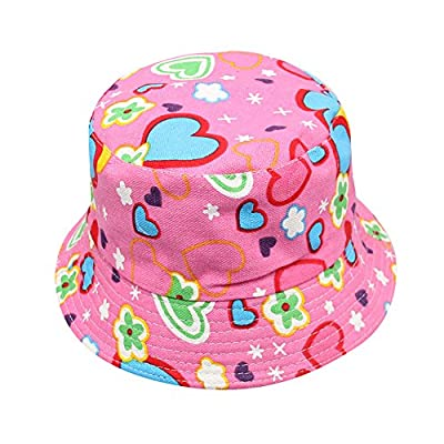 SMALLE Clearance Toddler Kids Baby Boys Girls Floral Pattern Bucket Hats Sun Helmet Cap