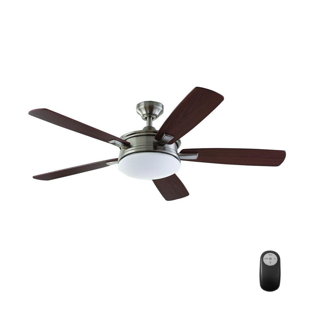 Home Decorators Collection Daylesford 52 in. LED Brushed Nickel Ceiling Fan