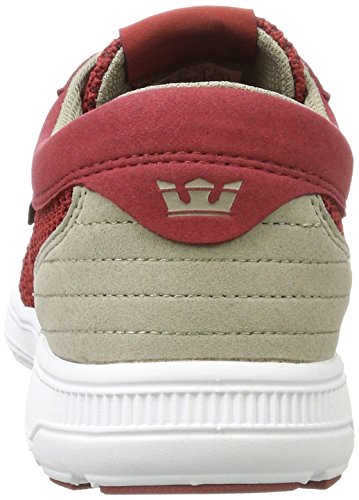 Supra Hombres Hammer Run Skate Shoe Brick Red / White