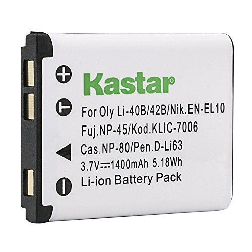 Kastar Camera Replacement Battery LI-42B LI-40B For Olympus FE-230 FE-240 FE-250 FE-280 FE-290 FE-300 TG-310 TG-320 ()