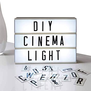 Letter Light Boxes.Eutuxia Cinematic Light Box With Letters Led Light Box Room Decor Sign Marquee Light Up Sign Personalized A4 White Led Letter Box With Light Up