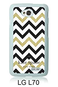 customized LG L70 Case Cover, Fashion Stylish DIY Kate Spade 149 White Case Cover For LG L70