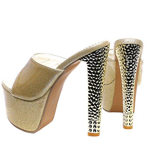 Caviglia AIYOUMEI Aperte Donna Gold sulla EHXHqxwrP